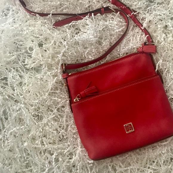 Dooney & Bourke Handbags - New! Beautiful Red Dooney&Bourke Letter Carrier!